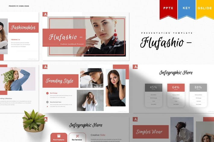 Thumbnail for Flufashio | Powerpoint, Keynote ки, Googleslide