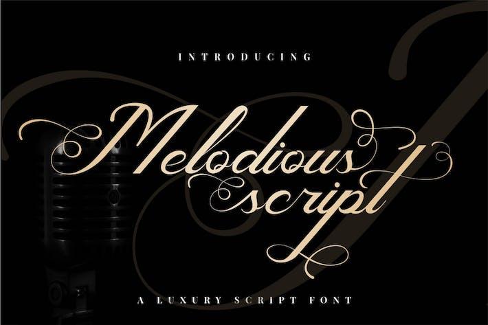 Melodious - Luxury Script Font