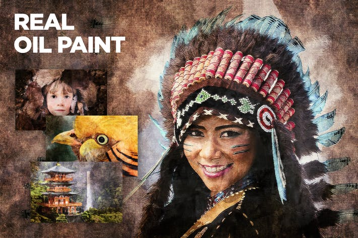 Thumbnail for Real Oil Painting CS3+ Photoshop Action