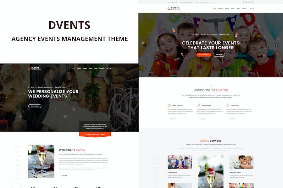 Dvents - Events Management Agency Theme
