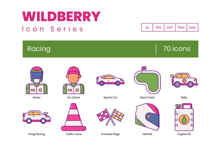70 Renn-Ikonen - Wildberry-Serie