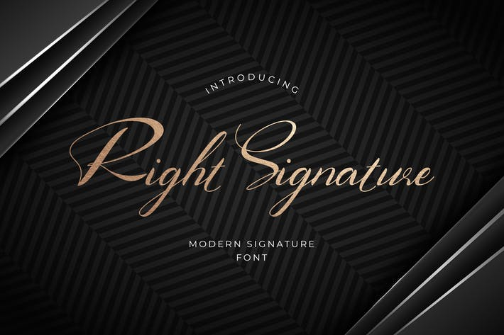 Thumbnail for Tipo de letra de firma derecha
