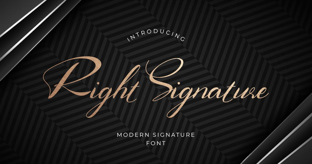 Download Right Signature Font by uicreativenet
