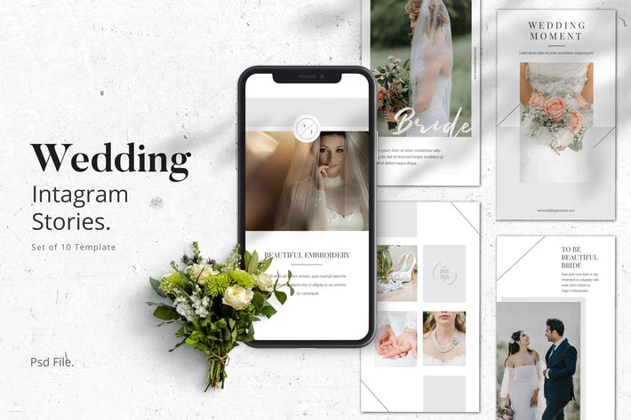 Thumbnail for Wedding Moment Instagram Stories Template