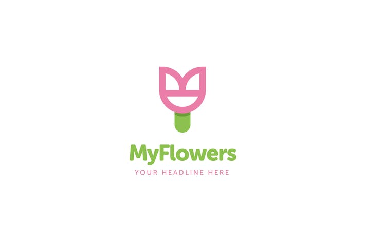 Thumbnail for MyFlowers Logo Template