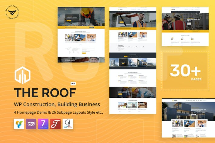 Thumbnail for Roof - Construction, Building WordPress Theme