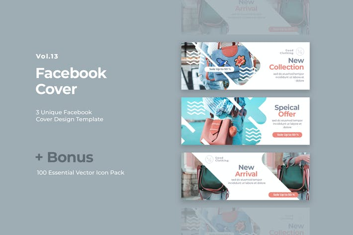Thumbnail for Facebook Cover Vol.13
