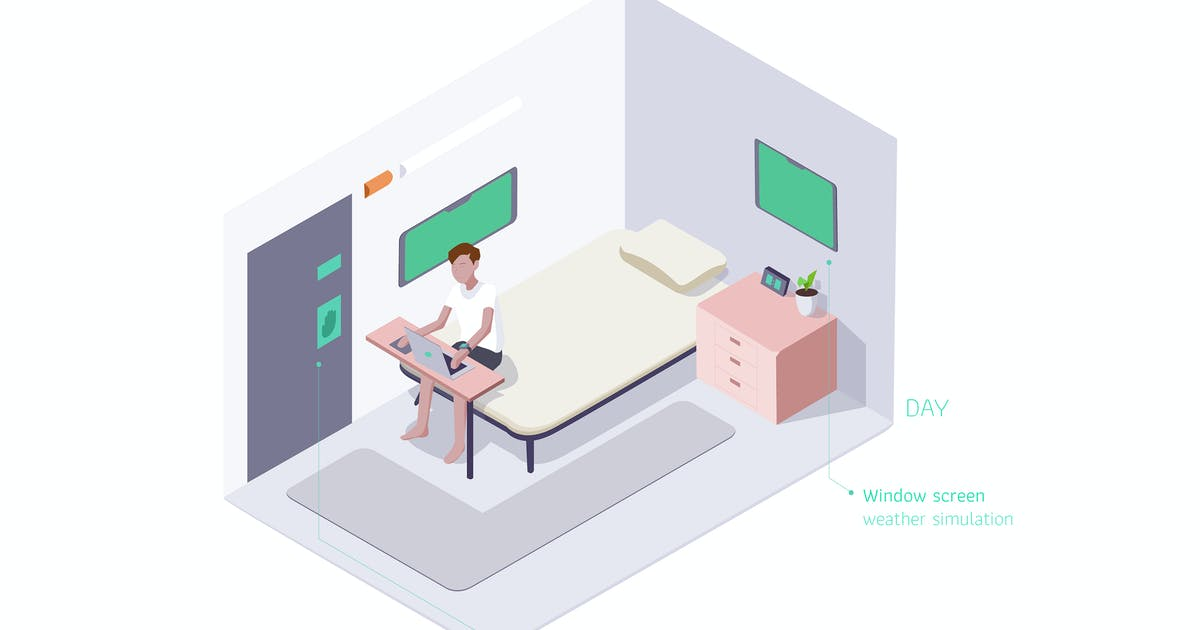 Download Smart Room Isometric Illustration by angelbi88