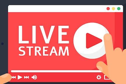 Live-Stream auf Tablet-Abbildung