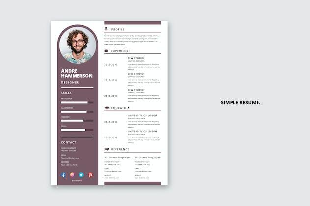 Violet - Simple Resume