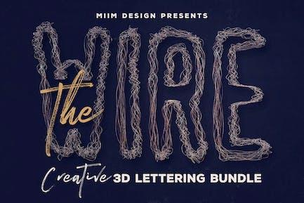 Der Draht — 3D Schriftzug