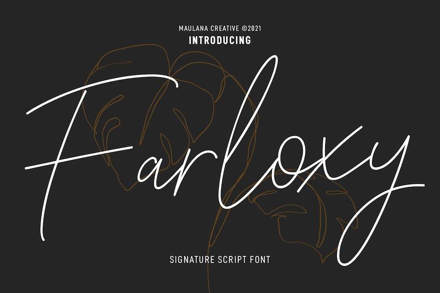 Farloxy Signature Script Font