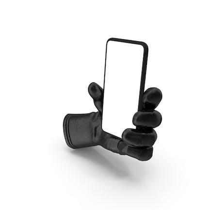 Glove Holding a Phone