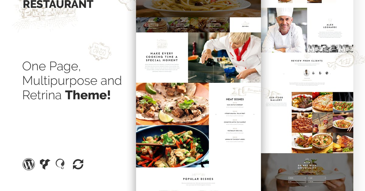 Download The Restaurant Restauranteur and Catering WP Theme by themeton