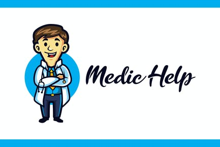 Medic Help - Medical and Healthcare Mascot Logo