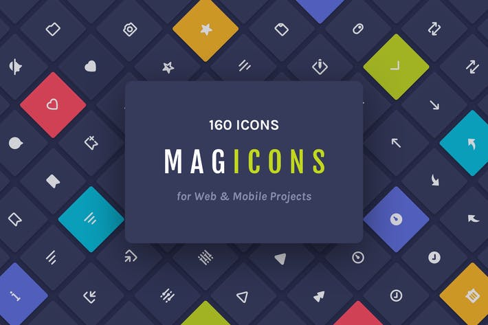 Thumbnail for Magicons: 160 Icons for Web & Mobile