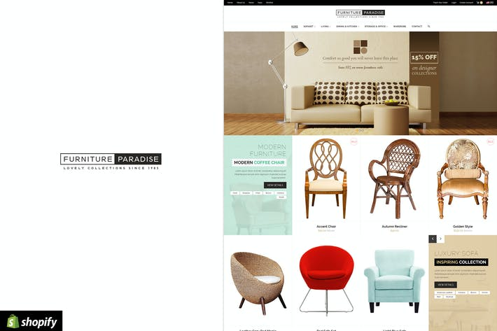 Thumbnail for Furniture Paradise - Responsive Shopify Theme