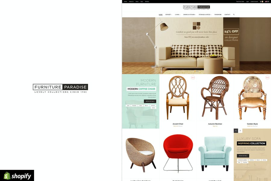 Furniture Paradise - Responsive Shopify Theme