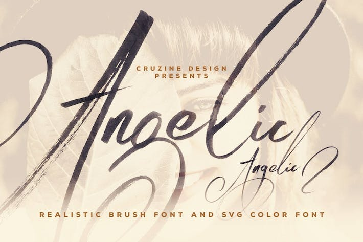 Thumbnail for Angelic Brush & SVG Font