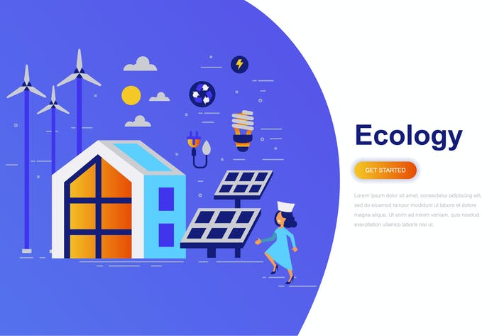Thumbnail for Ecology Modern Flat Concept