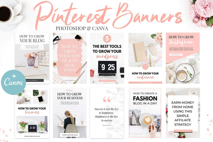 Thumbnail for Canva Pinterest Plantillas V.2
