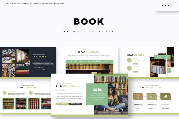 Thumbnail for Book - Keynote Template