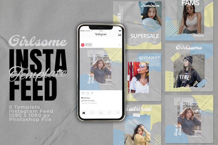 Thumbnail for Girlsome Fashion Instagram Feed Post Template