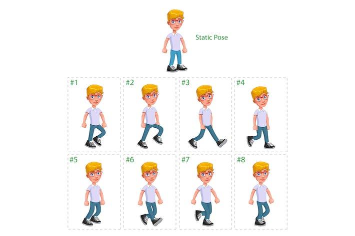 Animation of Boy Walking