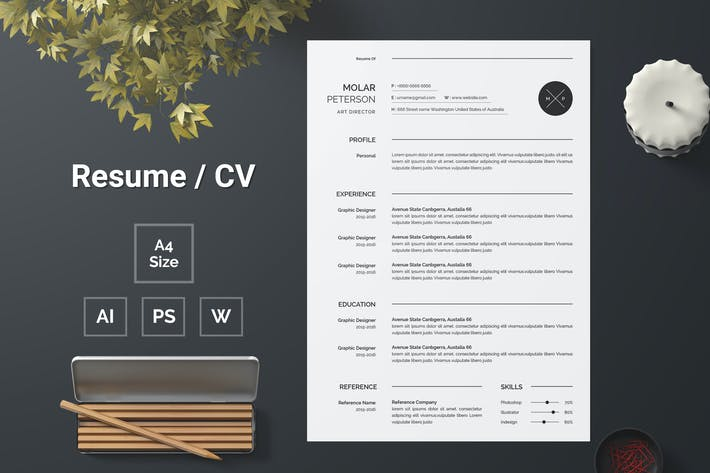 Thumbnail for Resume Template 140