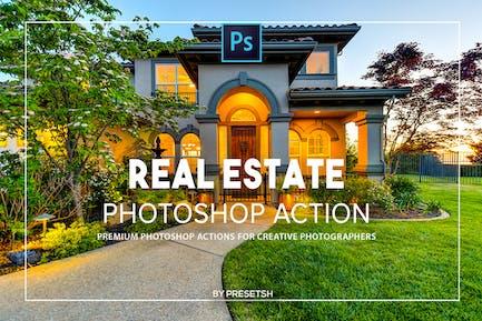 Acciones de Photoshop de bienes raíces