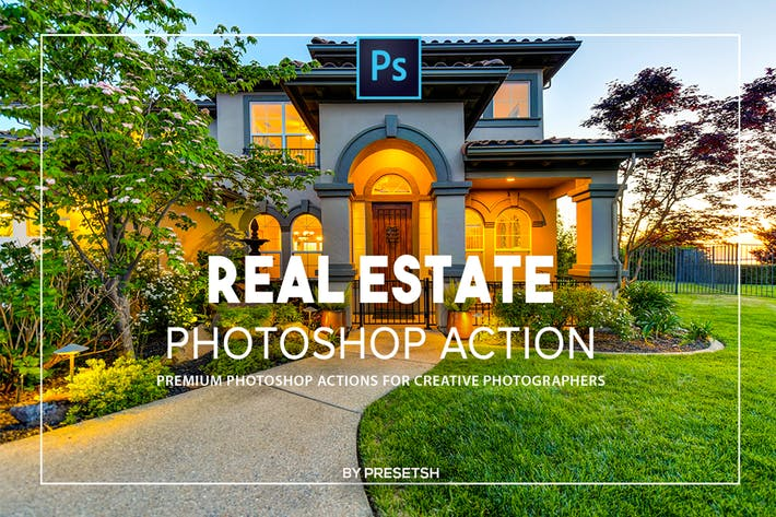 Thumbnail for Real estate Photoshop Actions