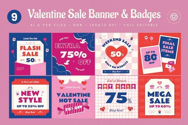 9 Valentine Sale Banners