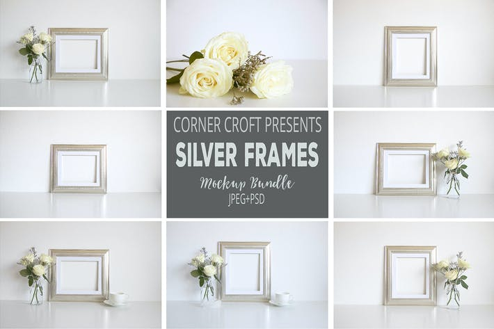Thumbnail for Silver photo Frame Mockup Bundle