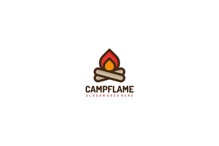 Thumbnail for Camping Fire Logo