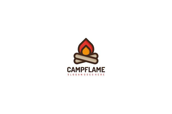 Camping Fire Logo