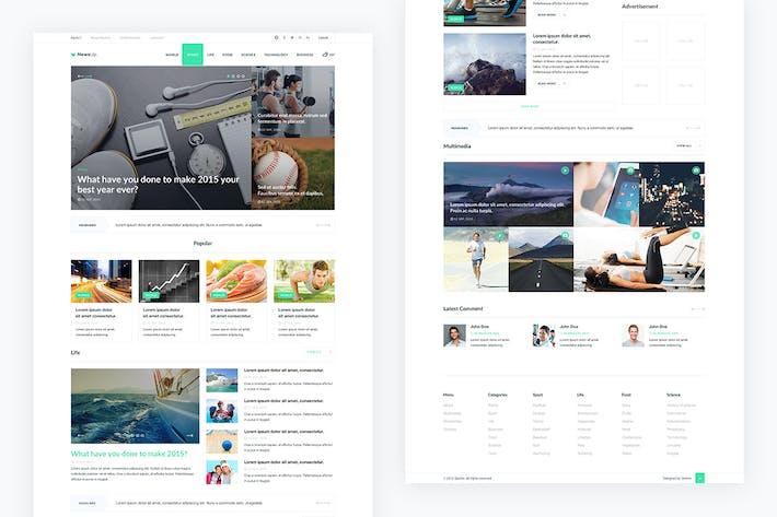 Thumbnail for NewsUp — News PSD Template