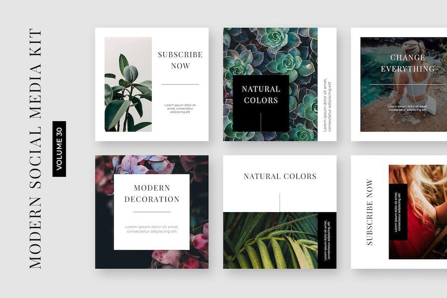 Modern Social Media Kit (Vol. 30)