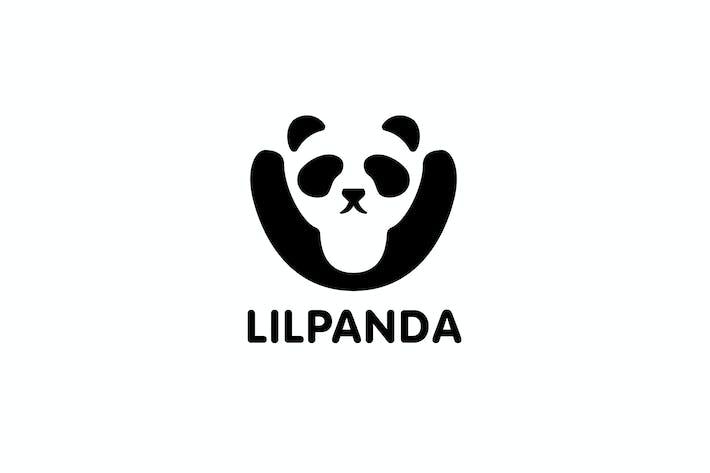 Thumbnail for Little Panda - Negative Space Panda Logo