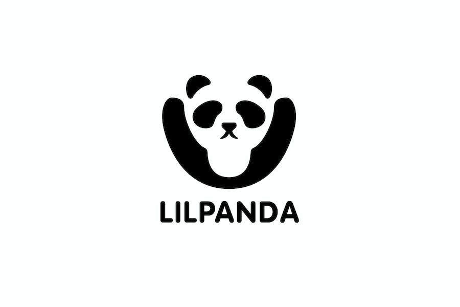Little Panda - Negative Space Panda Logo