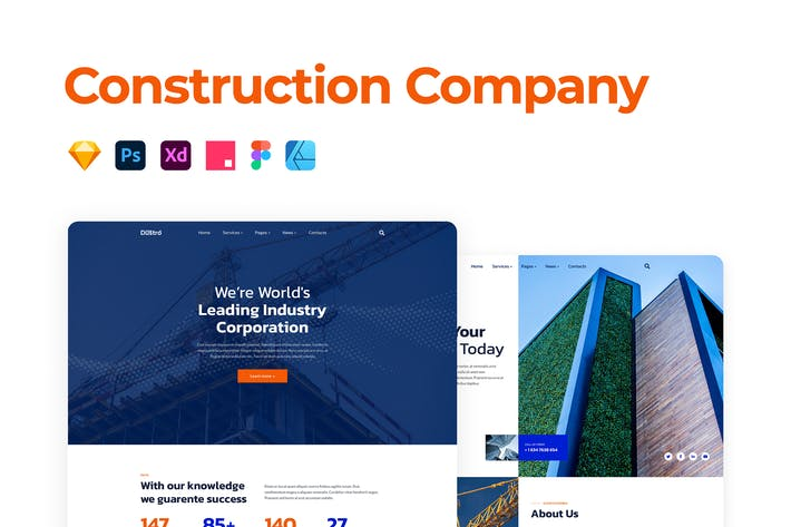Thumbnail for Construction Company Template