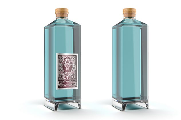 Liquor Glass Bottle Mockup