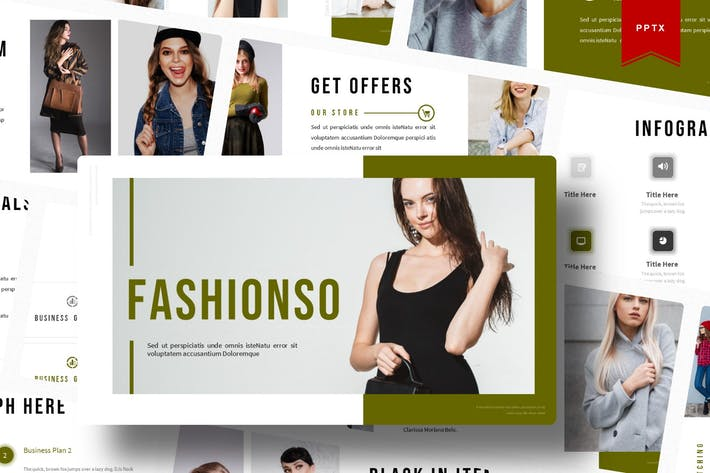 Thumbnail for Fashionso | Шаблон Powerpoint