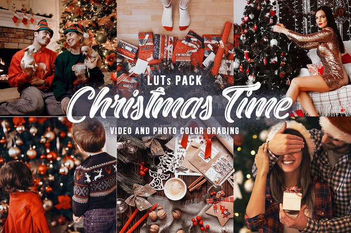Thumbnail for Christmas Time - 7 Xmas LUTs for Color Grading