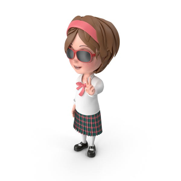 Thumbnail for Cartoon Girl Wearing Sunglasses