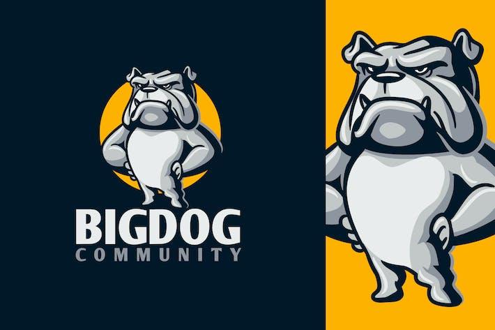 Thumbnail for Cartoon Strong Intimidating Bulldog Mascot Logo