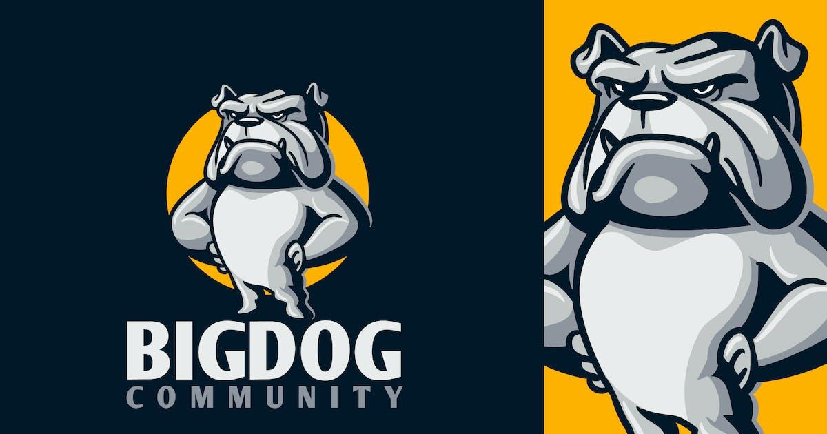 Download Cartoon Strong Intimidating Bulldog Mascot Logo by Suhandi
