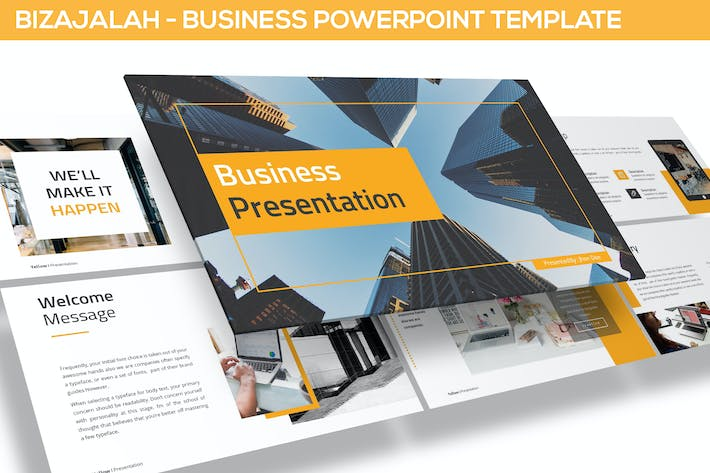 Cover Image For Bizajalah - Business Powerpoint Template