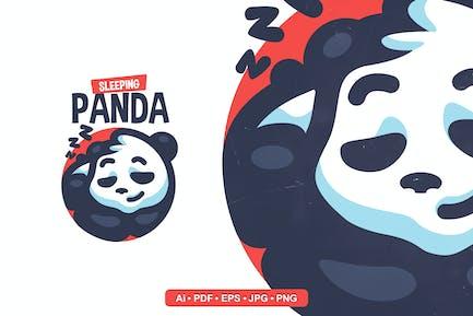 Sleeping Panda  Mascot Logo