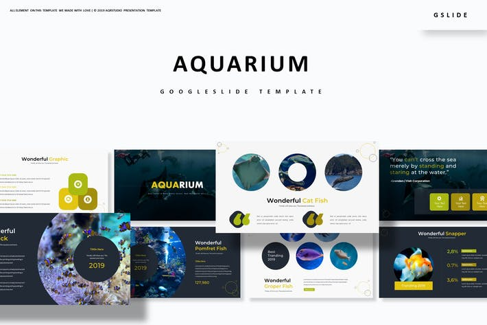 Cover Image For Aquarium - Google Slides Template