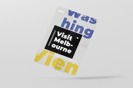 Poster typographie colorée